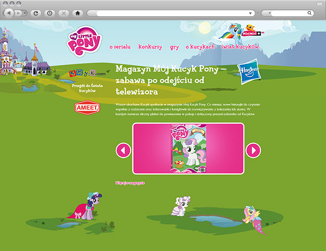 Minisite My Little Pony - partner Ameet