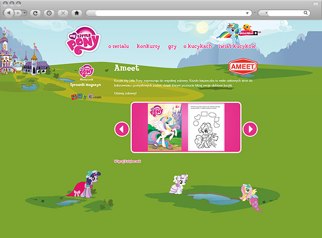 Minisite My Little Pony - gry